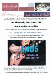 AMOS, Rock der 70er und 80er Jahre @ Paul-Schneider-Haus | Berlin | Berlin | Deutschland